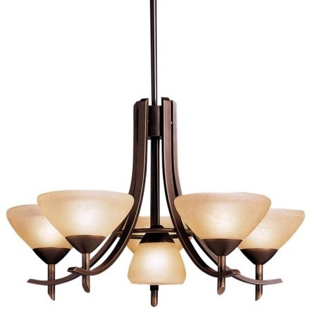 Kichler Olympia Chandelier - 27W in. Olde Bronze contemporary chandeliers