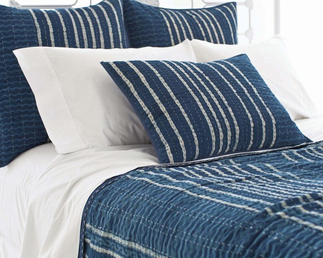 Indigo Resist Stripe Bedding Set Rustic Quilts And  : rustic quilts from www.houzz.com size 640 x 512 jpeg 98kB