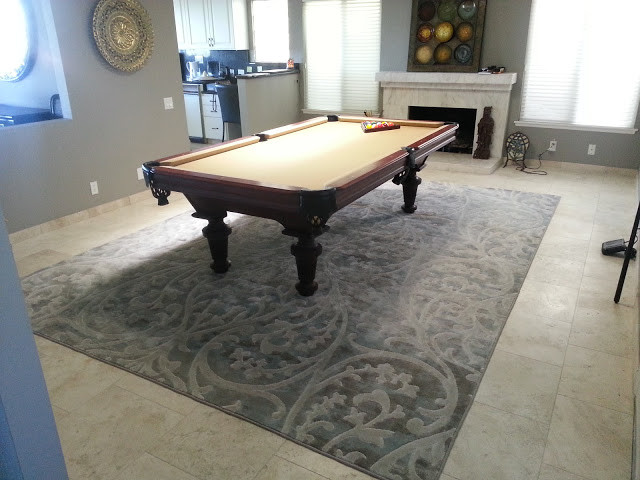 Grey Contemporary Modern Rug For Under Pool Table Modern