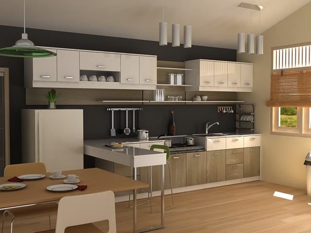 modern small kitchen - Modern - Kitchen Cabinets - other metro