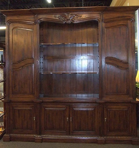 Large/Tall Cherry Cabinet with Sliding Doors - Traditional - Buffets And Sideboards - houston ...