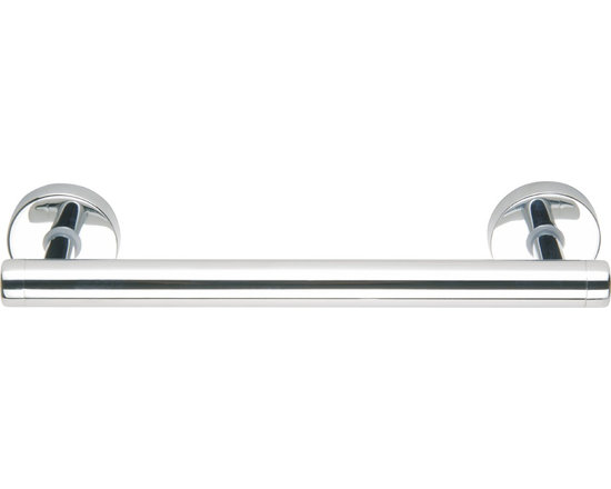 Decorative Bath Assist Bars-no drilling required - DRAAD Collection contemporary assist bars. These are ideal as a heavy duty towel bar, shower door handle and safety assist bar. Rated at up to 250lbs. These bars mount without measuring, no tools and no drilling required! These mount using the nie wieder bohren patented mounting system which installs in minutes, no drilling, no tools and no measuring and as a bonus can be removed with no damage to your fine surfaces. Available is polished stainless, chrome plated, brushed stainless and bronze (special order) Use coupon code DK20 to save 20%. Simple, Safe, Secure