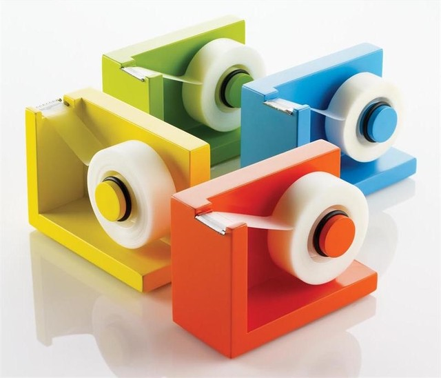 Stikit Tape Dispenser in 4 colors contemporary desk accessories