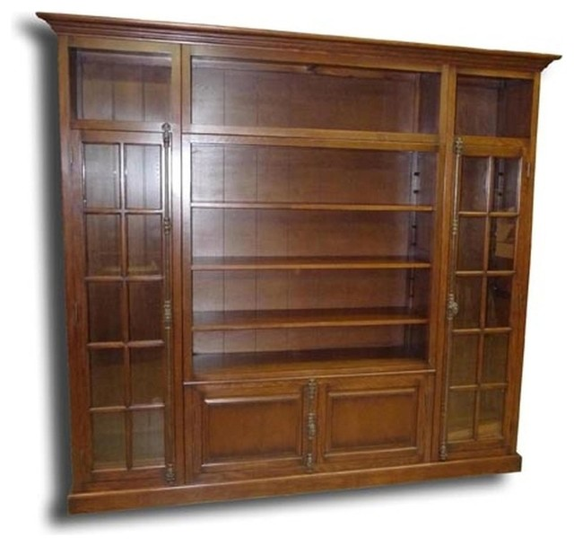 New Bookcase TV Display Cabinet Consigned Antiqued traditional