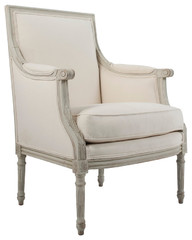 Pair of Gustavian Style Bergeres at 1stdibs