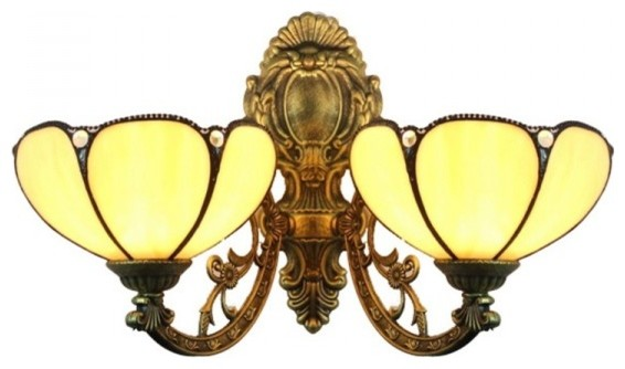 Iron Base 2 Lights Tiffany Wall Sconces For Indoor modern-wall-lighting