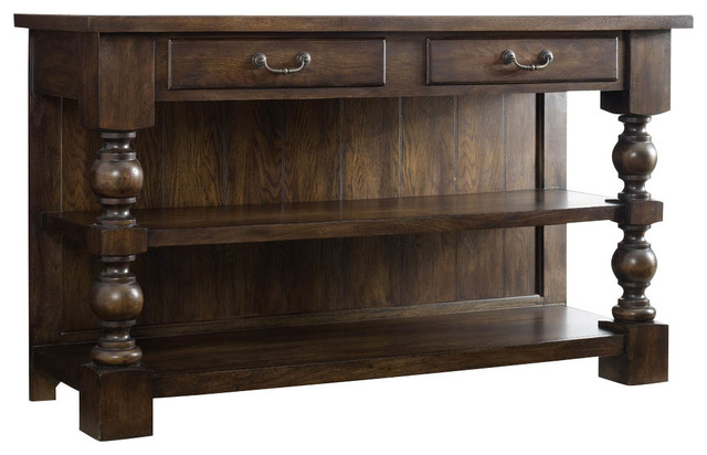 Two-Drawer Console Table traditional-storage-units-and-cabinets