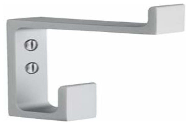 Smedbo coat hook aluminum height 2 7 8 inch contemporary for Bathroom accessories height