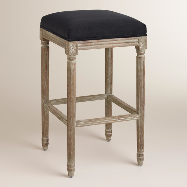 Black Paige Backless Barstool Traditional Bar Stools