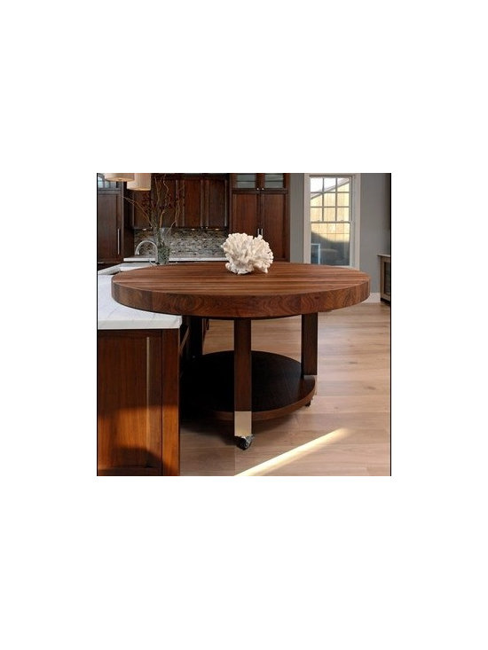 Walnut Countertop Table. Designed by Jennifer Gilmer Kitchen & Bath Ltd. - Walnut Countertop Table. Designed by Jennifer Gilmer Kitchen & Bath Ltd.