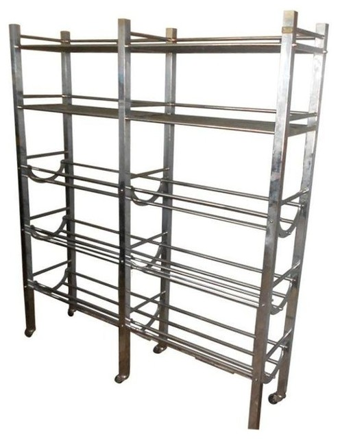 Belgian Stainless Steel Storage Rack on wheels ...