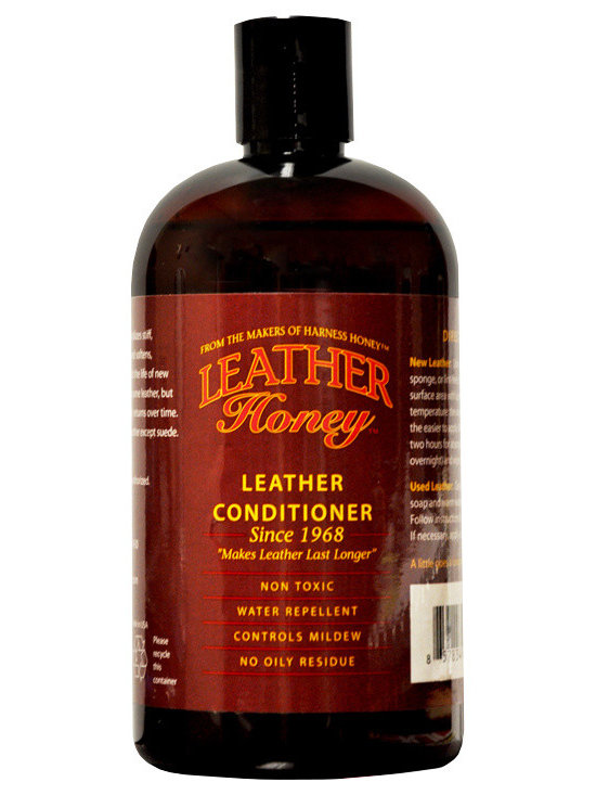 Leather Honey - Leather Honey Leather Conditioner, Softener, Protector, Jackets, Boots 16 oz - Leather Honey is a leather conditioner that softens, moisturizes and promotes flexibility leaving your leather feeling and looking beautiful! It deeply penetrates all types of leather to protect new leather and rejuvenate old leather. Leather Honey is a water-repellent, non-toxic, non-solvent that isn't sticky, has no odor and does not contain silicone. We use it on all conventional leathers. It can be used on some exotic skins, but be sure to test on a small inconspicuous area first. Free standard shipping in the US included.