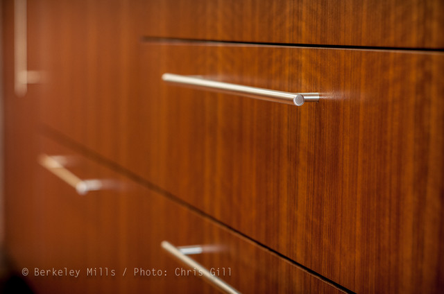 ... Drawer fronts with Stainless Steel pulls contemporary-kitchen-cabinets