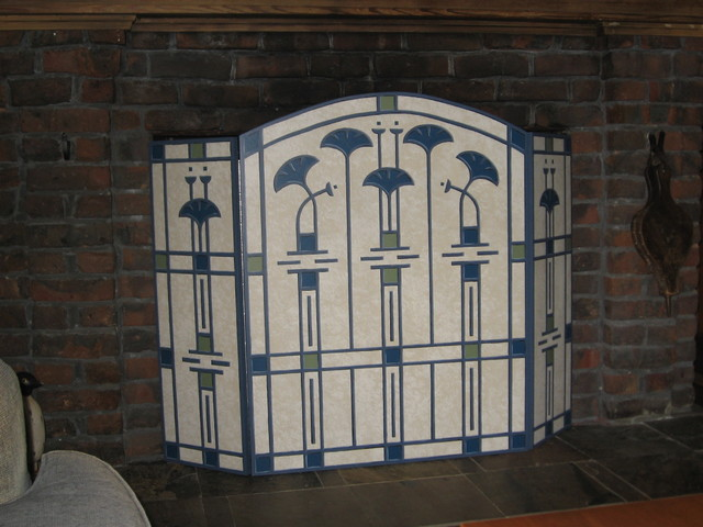 Hand painted fireplace screens adorable country classics hand hand painted fireplace screen traditional fireplace teraionfo