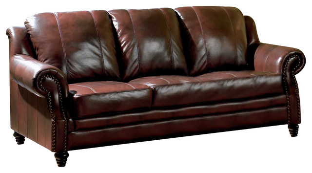 Coaster princeton leather sofa traditional sofas by for Traditional couches for sale