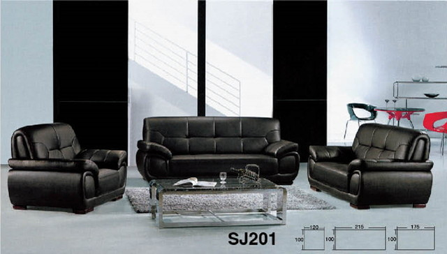 leather sectional sofa 1+2+3 (modern) traditional