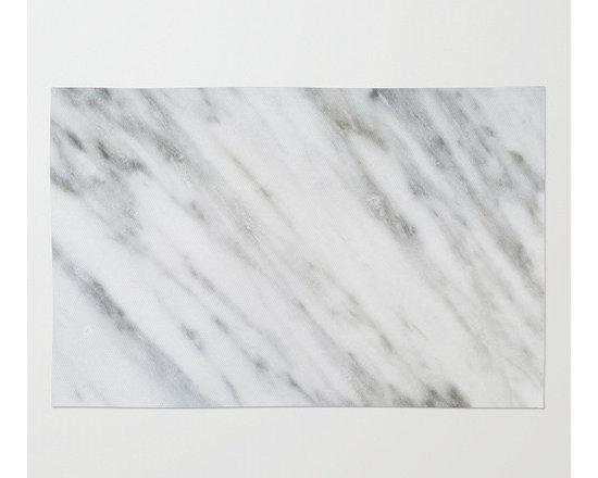 Carrara Italian Marble Rug by Cafelab -