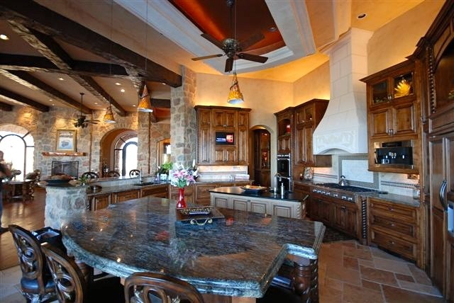 Hill Country Elegance in Belvedere off Hamilton Pool, Austin Texas mediterranean-kitchen