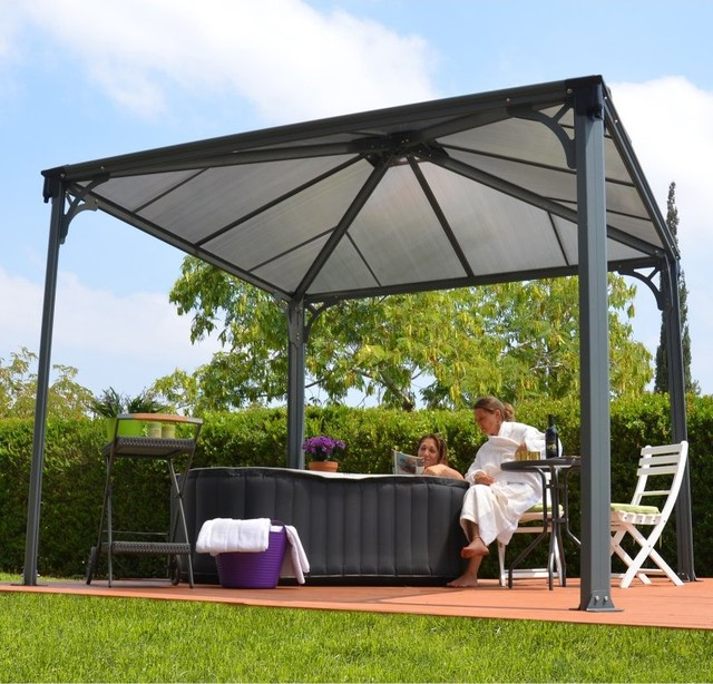 Modern Garden Gazebo : ... Gazebo - 10 x 10 ft. - Gray / Bronze - HG9150 - Contemporary - Gazebos