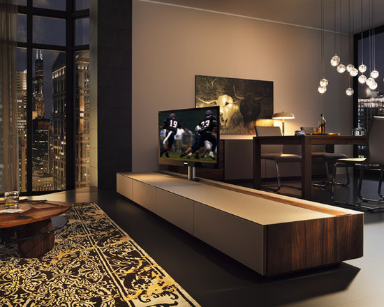 Cubus luxury walnut room divider - An amazing TV cabinet that allows you to rotate your screen. It even allows you to rotate it in the opposite direction. Ideal as a room divider.