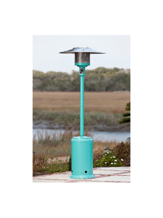 Fire Sense Aqua Blue Powder Coated Patio Heater - The Fire Sense Aqua Blue Powder Coated Patio Heater will provide a pop of color as well as additional warmth to your outdoor entertaining area. -Mantels Direct