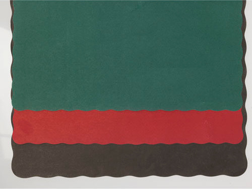 PPR Placemat Scalloped Edge 9.5 x 13.5 Red 1000 modern-placemats