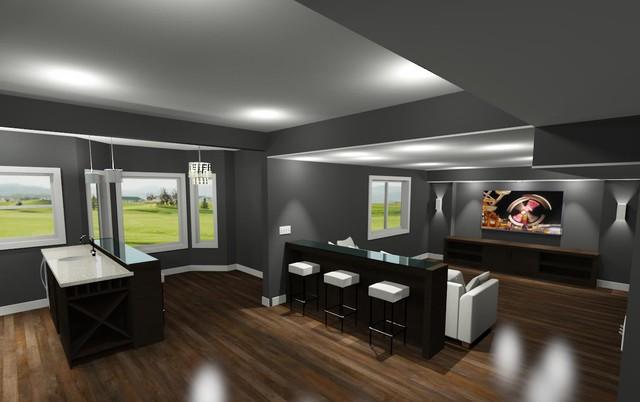 Urban Abode Designs transitional-rendering