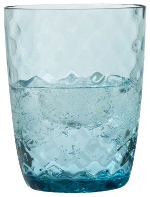 Small Blue Moroccan Tumblers contemporary-everyday-glasses