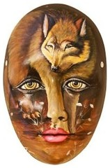 Ceramic Figures - Wolf Mask - FAM17