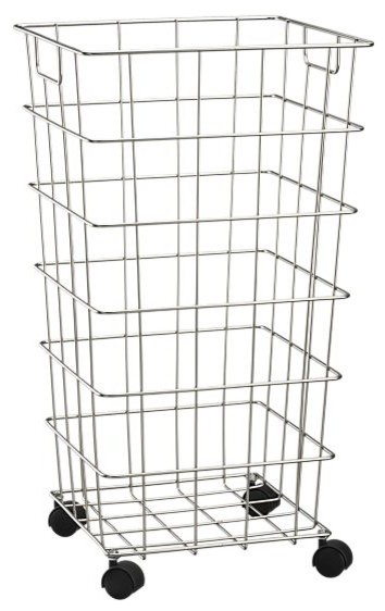 Wire Hamper With Wheels contemporary hampers