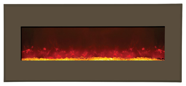 Modular Electric Fireplace - Modern Auburn Steel contemporary-indoor-fireplaces
