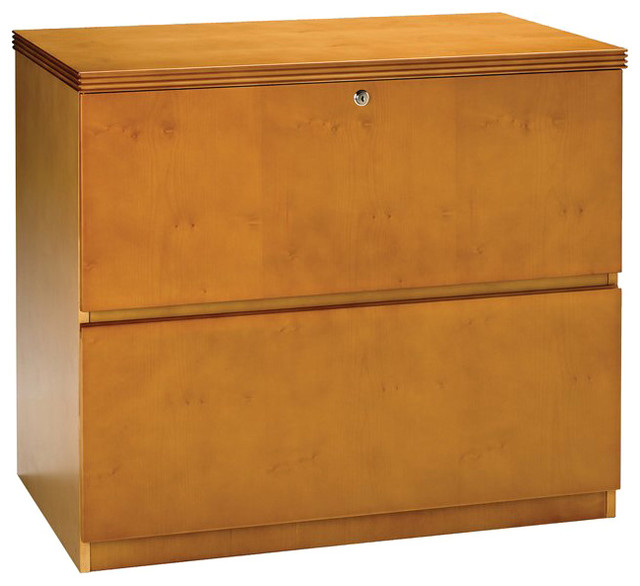 Mayline Luminary 2 Drawer Lateral Wood File Cabinet in Maple Finish - Transitional - Filing ...