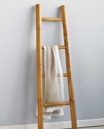 Bamboo Ladder Tropical Bathroom Accessories By VivaTerra