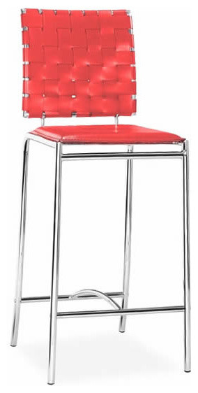 Criss Cross Counter Chair Red modern-chairs