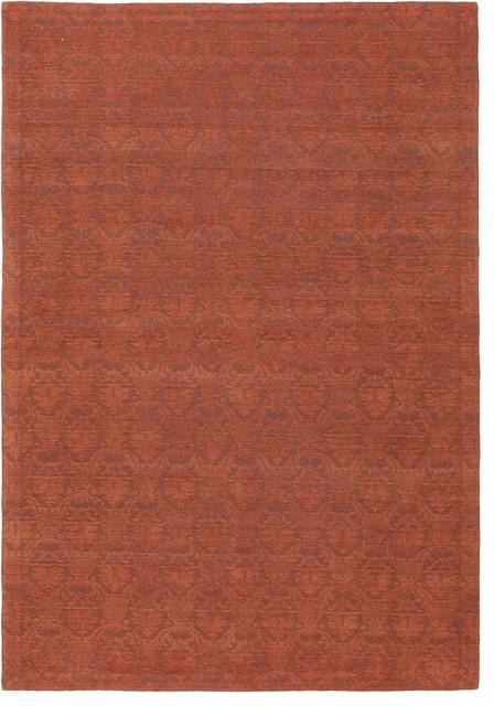 "Flat-weave Fab Dhurrie Dark Copper Viscose Dhurrie 4'6"" x 6'6"" modern-rugs"
