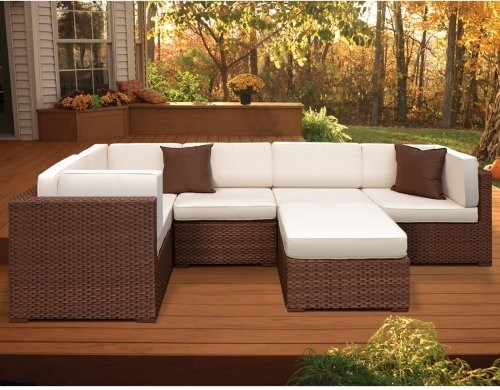 Bellagio All Weather Wicker Sectional Set - Seats 6 contemporary-patio-furniture-and-outdoor-furniture