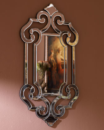 Beveled Scroll Mirror traditional-wall-mirrors