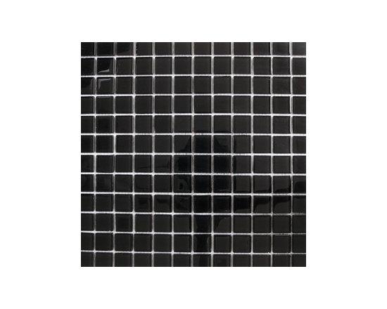 Black Polished Glass Mosaic -
