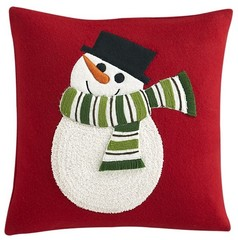 """Snowman 16"""" Pillow in Christmas Decorating 