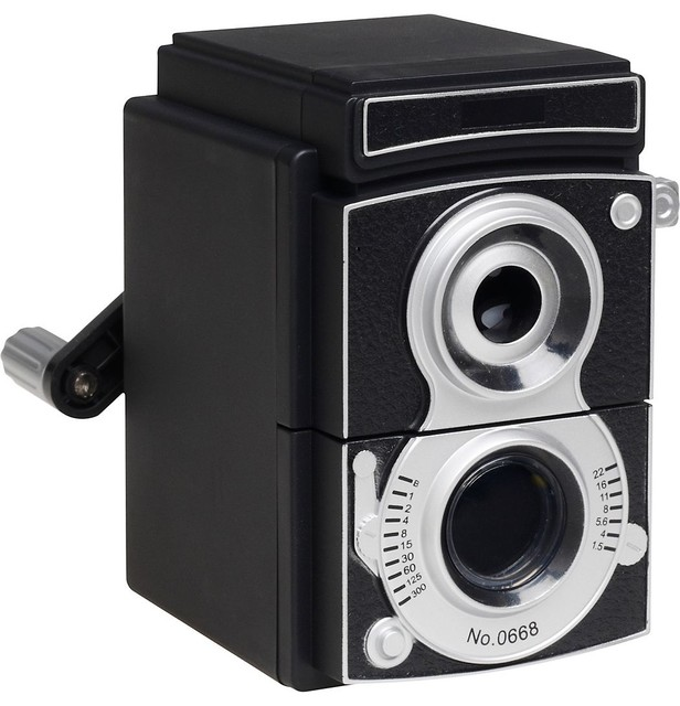 Camera Pencil Sharpener eclectic desk accessories