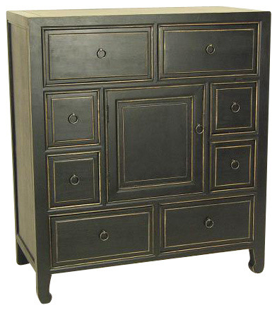 Suchow Apothecary Chest,Blk contemporary-dressers