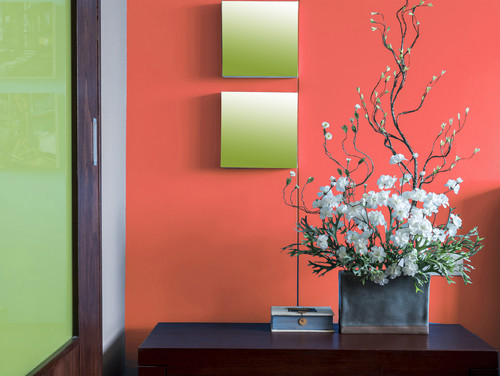 Color of the month decorating with coral abode - Color de pintura para interiores ...