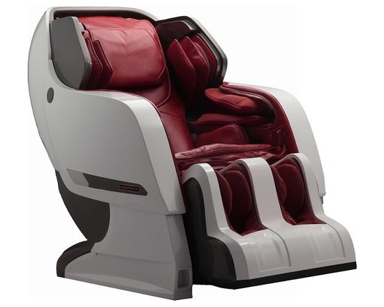 Infinity IYASHI White / Berry Red Reclining Full Body Zero Gravity Massage Chair - Introducing the IYASHI Massage Chair by Infinity.  The hottest  selling massage chair in all of Asia is now launching in  America....IYASHI has arrived!         Infinity continues to be the innovative leader bringing to  market life changing massage therapies.  Incorporating many of the Zen  Master and Ti Chi massage techniques, IYASHI is truly an industry  revolutionizing massage chair.  This cutting edge design utilizes the  longest massage stroke ever brought to market!  This groundbreaking  massage mechanism operates from your neck all the way down to track  under and include your gluteus muscles!  IYASHI will invigorate,  relieve, and revive 35% more of your being than any massage chair in  existence today.  Rich with many of the distinctive Infinity  technologies, IYASHI is The World of Massage.         The ly developed space saving track system is an amazing  break through that drastically minimizes space requirements.  This  exclusive IYASHI advancement affords you the ultimate dream massage even  in the most restrictive of space settings where traditional chairs are  too cumbersome and would fail.         Complete with Apple and Android apps, your IYASHI is easily  operated with your Bluetooth enabled mobile device.  Incorporate your  favorite playlists and create the massage of your dreams in The World of Massage.         Massage Techniques Include:          - Kneading          - Tapping          - Synchronic (Connect via Bluetooth and have the rollers massage you to the beat of your music!) !          - Knocking          - Shiatsu          - Combination Product Features Include:          - 3 year peace of mind warranty - parts and labor warranty- Two Zero Gravity Positions  !          - Spinal Correction !          - Accu-Roll Shoulder Massage  !          - Intersound Technology !          - Bluetooth Technology          - Apple and Andoid App          - Lumbar Heat        