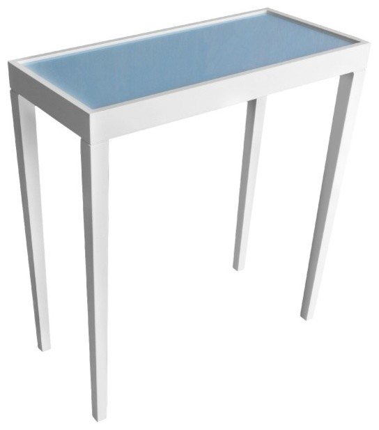 Tini Table III - Hinting Blue Backpainted - Hinting Blue transitional-side-tables-and-end-tables