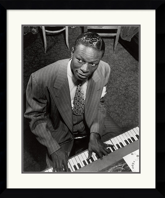 Nat King Cole Framed Print by William P. Gottlieb traditional-prints-and-posters