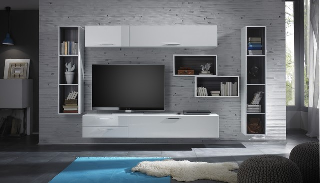 Modern Wall Unit TV Media Entertainment Center Club
