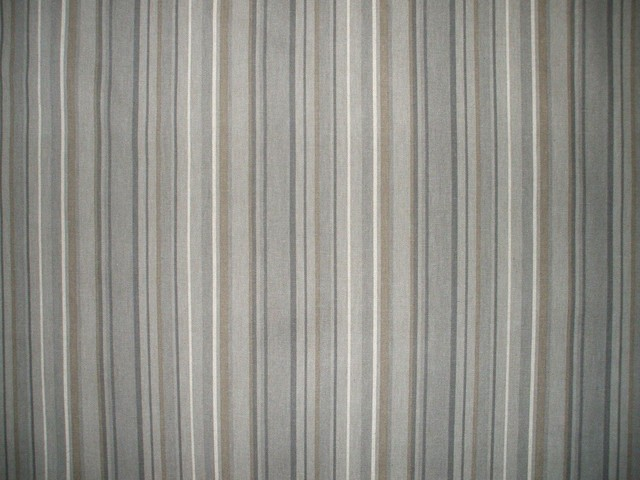 "84"" Shower Curtain, Unlined, Premier Stripe Grey Beige contemporary-shower-curtains"