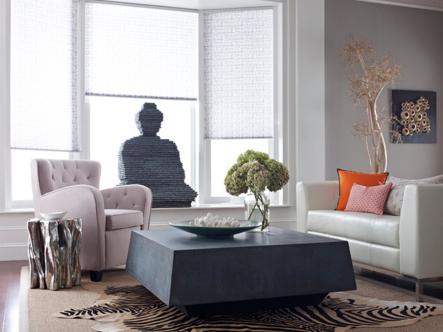 Concrete Table and Buddha contemporary-coffee-tables