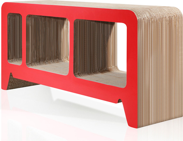 Georgia Red Cardboard Lowboard modern buffets and sideboards