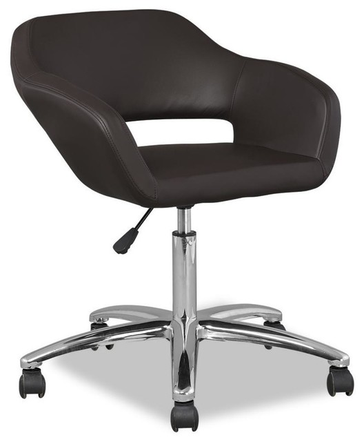 deep brown upholstered office chair contemporary task chairs